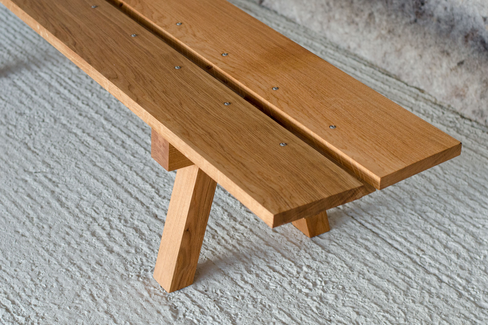 bespoke furniture oak bench