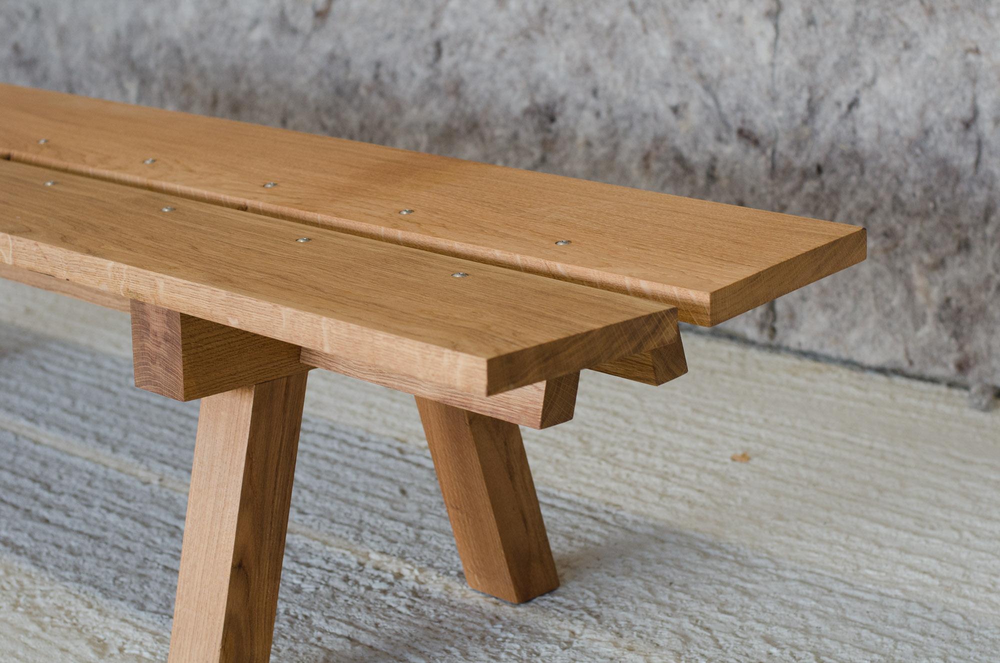 bespoke furniture oak bench