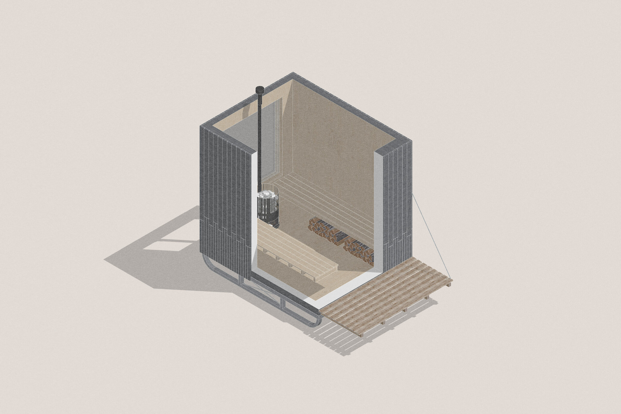 Nomad forest sauna